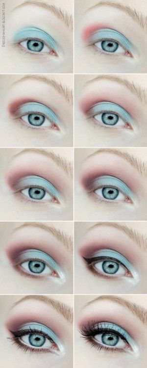 bubble bath makeup. but i wouldn't put red on the ends. maybe just the white and light blue. and use my blue eyeliner i got in my ipsy bag.