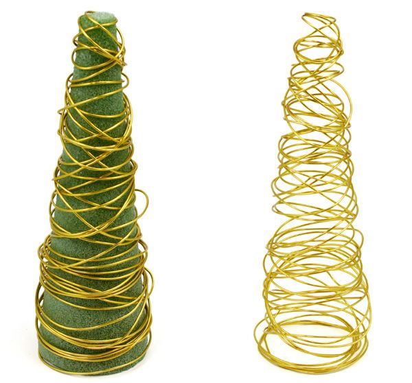 Party Ideas by Mardi Gras Outlet: DIY: Wire Christmas Tree Decorations