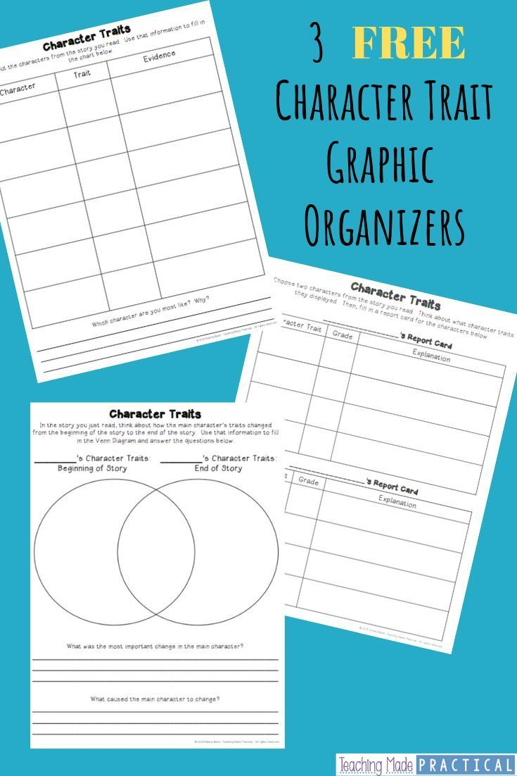 medium resolution of Character Traits Graphic Organizers - Teaching Made Practical   Character  traits graphic organizer