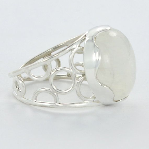 Father's Day/Summer offer:Get 25% discount Coupon-SUM15  925 Sterling Silver Rainbow Moonstone Gemstone by DevmuktiJewels