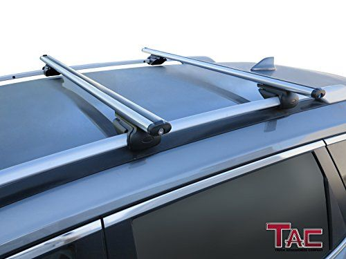 "TAC 48"" Crossbars Aluminum Roof Rack Top Rail Locking Luggage Carrier Fit Side Rails Up to 46"" Apart Universal For SUV, Truck, Car  Fitment: Adjustable fit roof side rails from 36"" to 46"".150 LBS load capacity.Please check the size of your side rail and official capacity before you purchase.  Design: Lightweight Aircraft Aluminum cross bar with aerodynamic design. Effectively reduce the wind resistance and decreasing wind noise.  Security: Anti-theft lock system for more security.  Ins..."