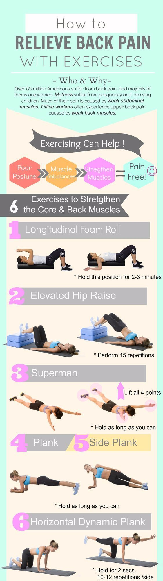 How to relieve back pain with exercises? #backpain