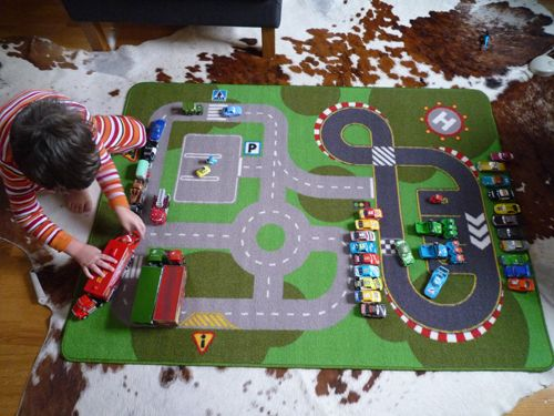 Play mat, love the race tracks