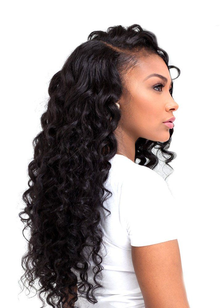 "eHair Outlet offers 100% Virgin Human Hair Extensions. Our Malaysian Deep Wave Hair Extensions have a loose wave texture that makes it easy to style and maintain. It holds curls beautifully, yet has the ability to be worn straight. Waves become even more defined when wet. This hair is a great change if you are used to deep wave or sea wave hair extensions. This 8A Malaysian Deep Wave Human Hair Extension Features: Malaysian human hair extension Deep Wave Grade 8A Length size: 12""..."