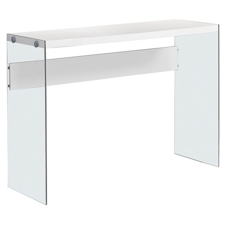 Modern Hall Table Tempered Glass Glossy White Finish Holiday Home Furniture  #MonarchSpecialties => Easy & pleasant transaction => Quick delivery => 100% Feedback => http://bit.ly/24_hours_open #*24_hours_open*, #Hall,#Table,#Coffee,#Corner,#Furniture,#Decoration