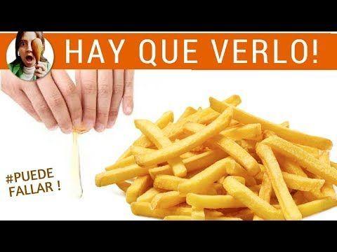 PAPAS FRITAS SIN ACEITE - ¡Gran truco! (patatas fritas) - YouTube