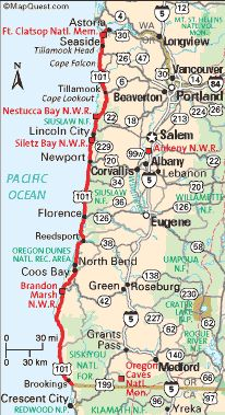 highway 101 map | Oregon Coast Travel   The Ways To Get There