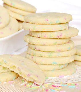 Citromhab: Vajas keksz szórócukorral