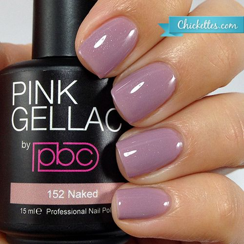 Red Nail Polish In Grout: #152 Pink Gellac Naked