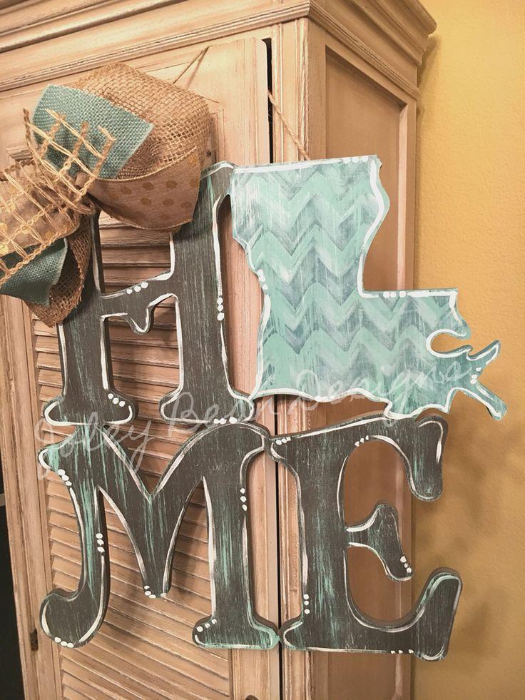 Joley Bean Designs, Home, Louisiana, door hanger