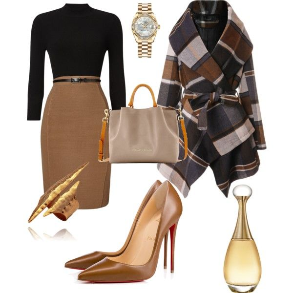 A fashion look from January 2017 by jmwallace58 featuring Phase Eight, Chicwish, Christian Louboutin, Dooney & Bourke, Rolex and Christian Dior