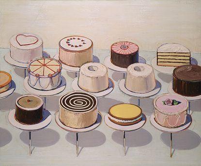 Wayne Thiebaud, Cakes, 1963.