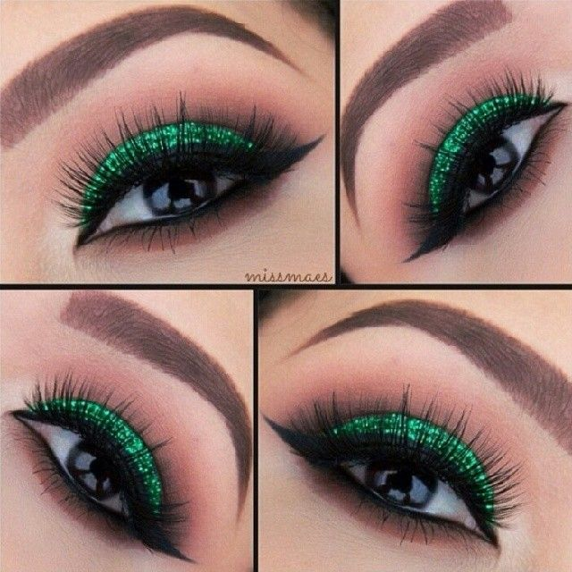 St. Patricks Day eye makeup i do have my green mac makeup hmmm