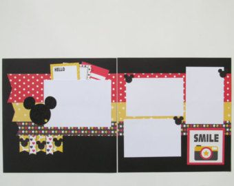 Minnie Mouse Layout Premade de Scrapbook 12 x por blessedbydesign
