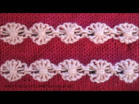 A beautiful stitch and not hard to knit if you have some experience. Watch video to learn how to knit the Flowers is a Row. ++ Detailed written instructions:...