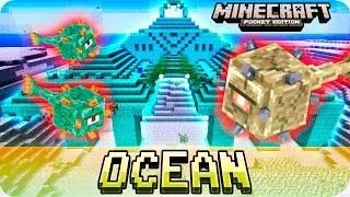 Minecraft PE 0.16.0 Seeds - OCEAN MONUMENT at SPAWN! Water Temple Seed - 0.16.0 MCPE