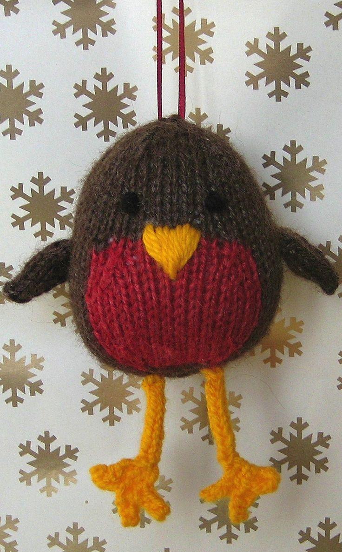 Jolly Robin Knitting Pattern