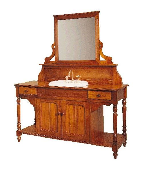 Double Door Bathroom Washstand - Wooden Federation Washstand