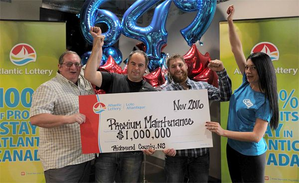 Four fish plant workers share $1.000.000 lottery prize