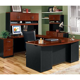 Via Complete Office Grouping With U Shaped Desk