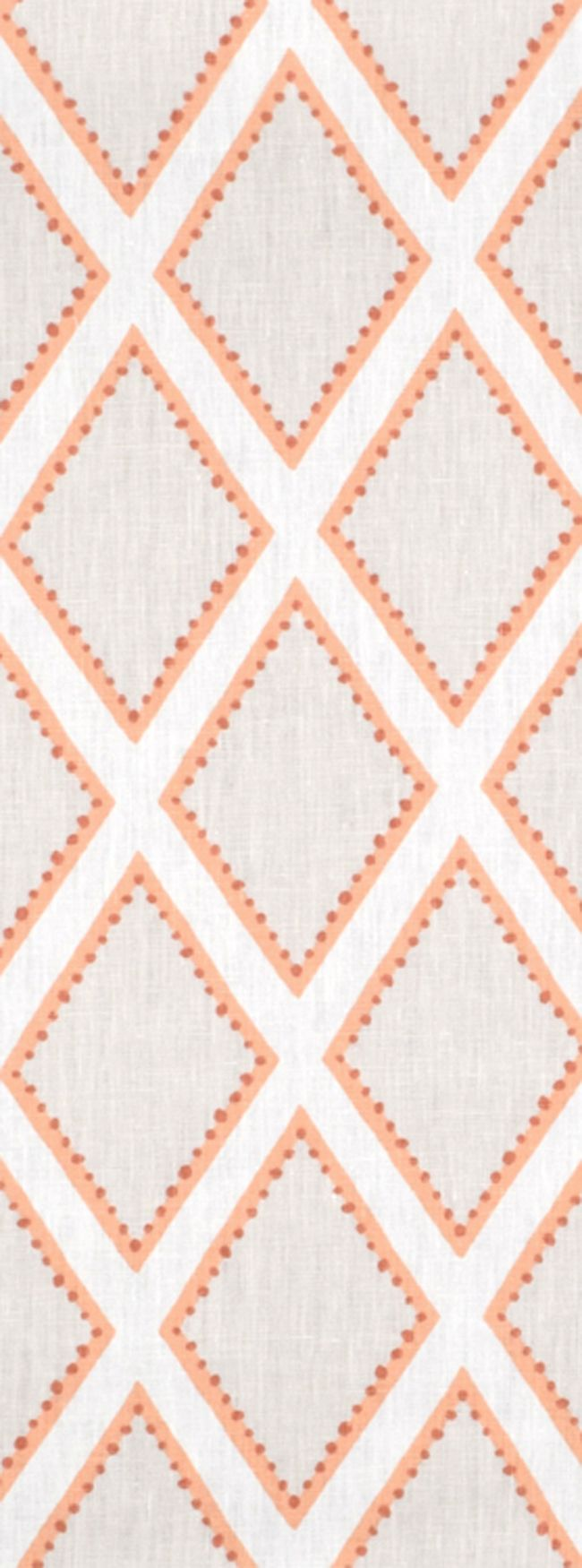 Diamond shaped Portfolio Brookhaven Coral Fabric $31.45 per yard