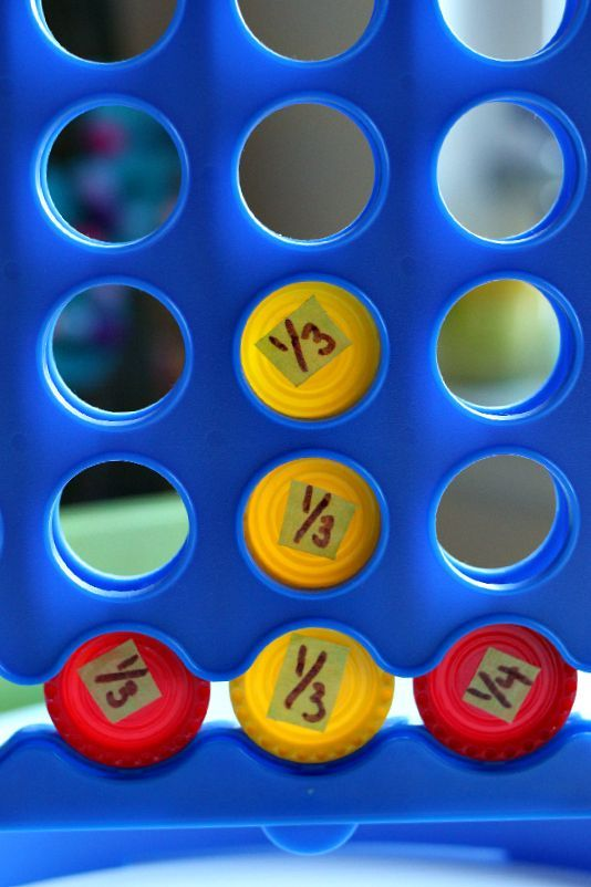 Super fun fraction connect 4 for elementary kids