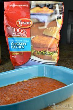 Frozen Tyson Chicken Patties for easy weeknight chicken parmesan