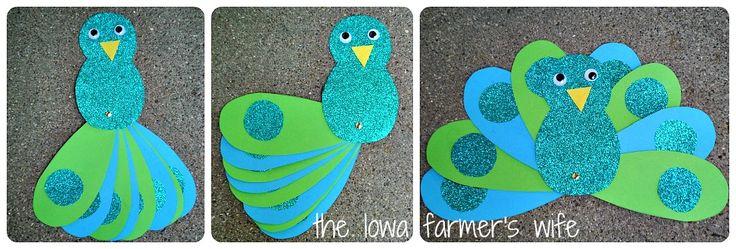 The Iowa Farmer's Wife: Tot Preschool: Letter P for Peacock