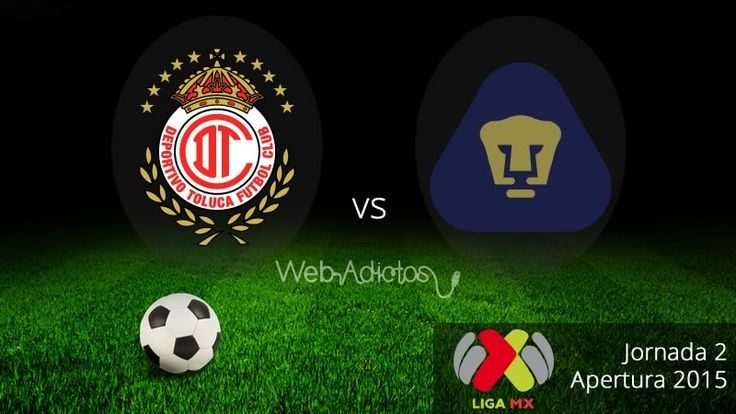 Toluca vs Pumas, Jornada 2 del Apertura 2015 ¡En vivo por internet! - http://webadictos.com/2015/08/02/toluca-vs-pumas-apertura-2015/?utm_source=PN&utm_medium=Pinterest&utm_campaign=PN%2Bposts