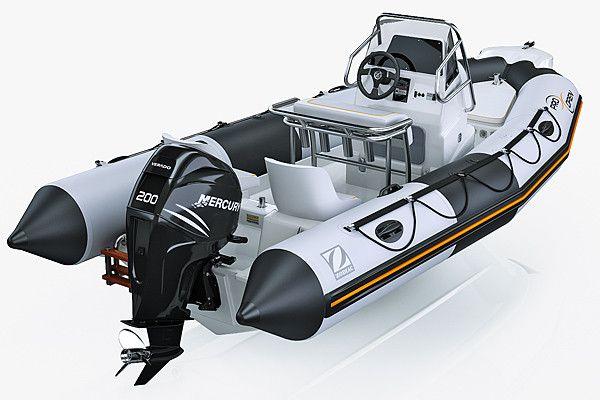 3d model inflatable boat zodiac 550