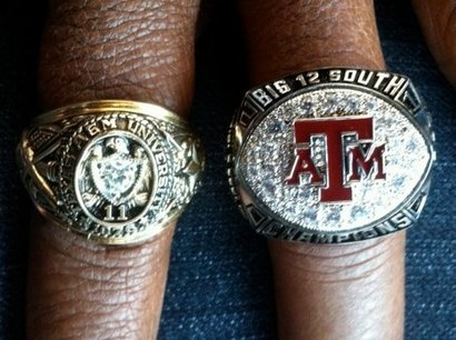 Von Miller's Aggie Ring and Championship Ring