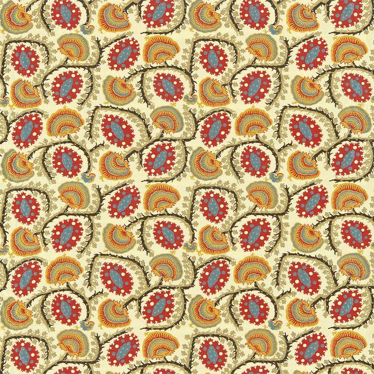 Zoffany Fabric - Suzani Anj05002 Red/blue