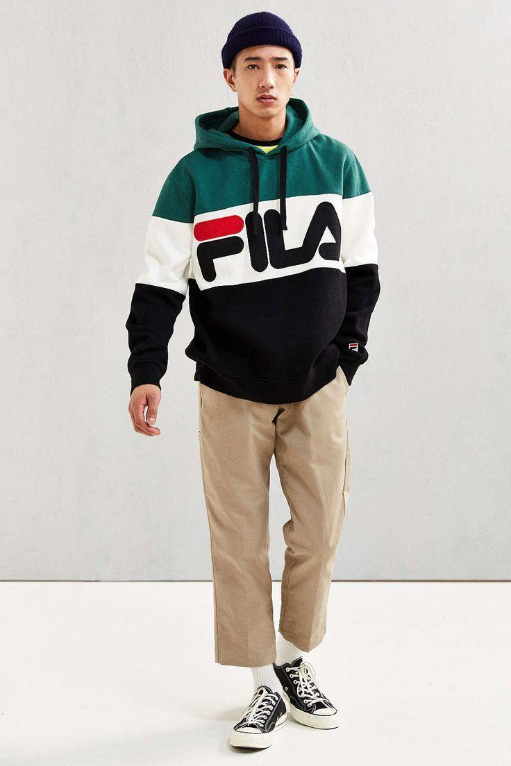 FILA Colorblocked Hoodie Sweatshirt - Urban Outfitters