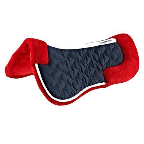 Amortisseur de dos mousse équitation LENA POLAIRE bleu marine et rouge