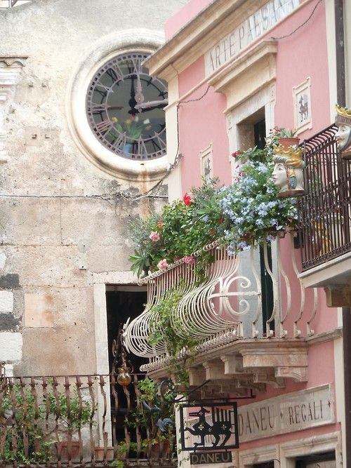 Clock Tower, Sicily, Italy