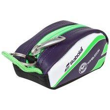 Wimbledon Babolat Racket Holder Keyring - Green/Purple