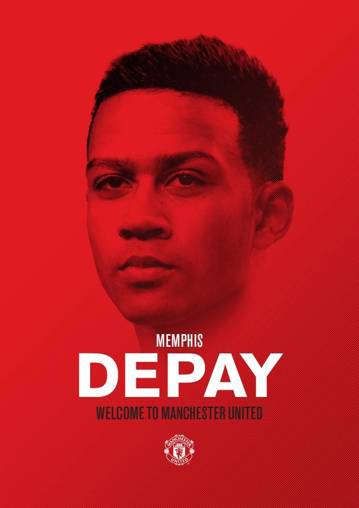 "Manchester United en Twitter: ""Welcome to Manchester, @Memphis! #WelcomeMemphis http://t.co/0Z12Vmj2Ni"""