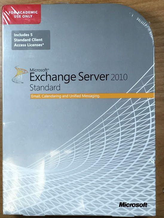 MICROSOFT EXCHANGE SERVER 2010 STANDARD X64 ENGLISH 5 USR X16-73756 882224916820 #Microsoft