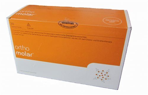 OrthoMolar is a balanced diet supplement, compiled by the orthomolecular principle. The product allows you a consistent and balanced supply of the immune system with essential micronutrients.
