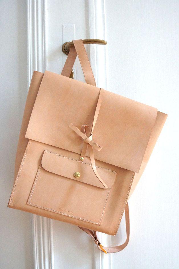 Rucksäcke - *Elegant sportlicher Lederrucksack* - ein Designerstück von MICOUdesign bei DaWanda