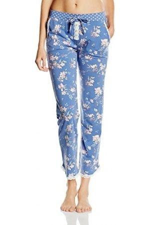 Pijamas de mujer - Pants long Pantalones de pijama Mujer, Multicolor (viola blue 5846) 42