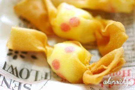 "You can make even with toaster】 Dumplings · Spring roll skin ""Candy knob"" is easy cute!"