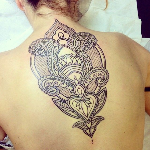 Back tattoo.