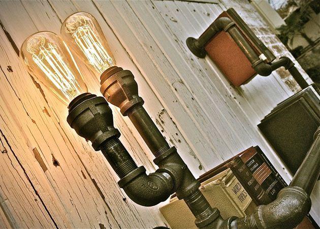 Design boekenplank van waterleidingen - I Love My Interior