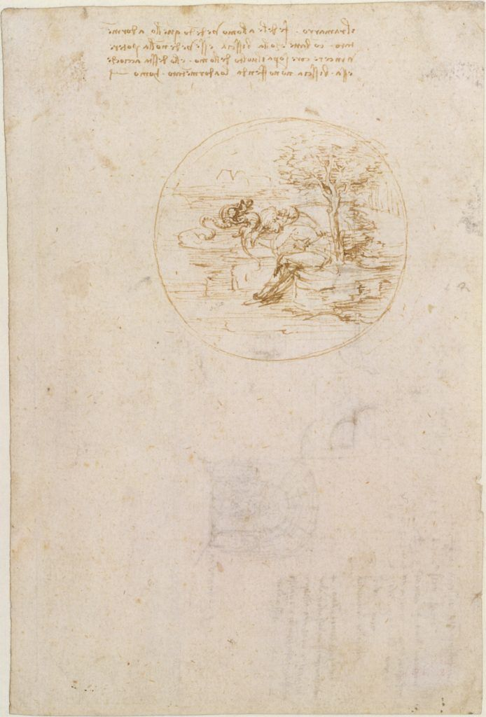 Leonardo da Vinci, Sketch and Notes for an Allegory on the Fidelity