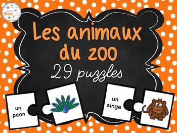 29 casses-tête sur les animaux du zoo.