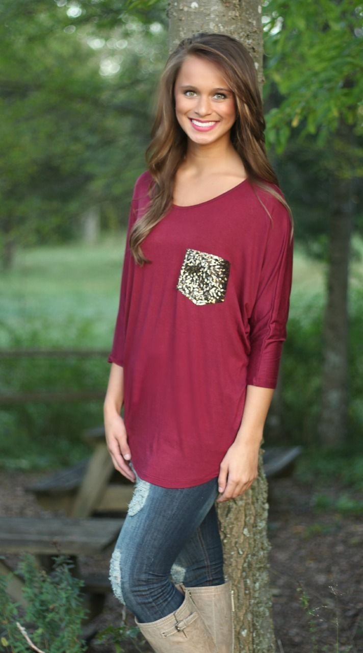 The Pink Lily Boutique - All Dazzled Up Tunic Burgundy, $36.00 (http://www.thepinklilyboutique.com/all-dazzled-up-tunic-burgundy/)