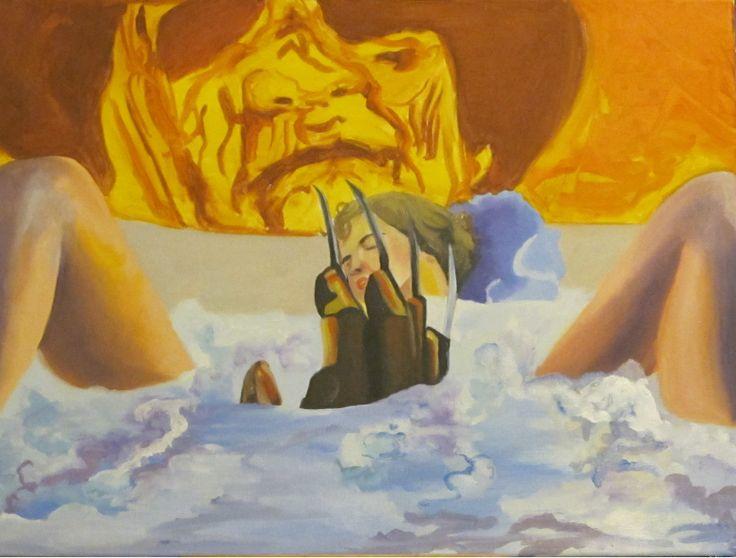 A Nightmare On Elm Street. Oil on Canvas 18 X 24.