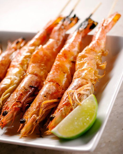 Grilled Shrimp with Lemongrass Marinade Recipe