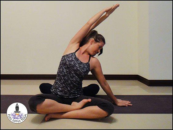Seated Side Bend (Parsva Sukhasana) | Partner Yoga ...